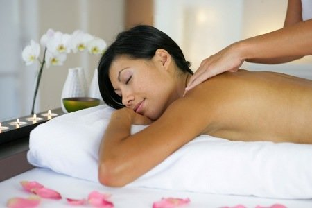 lady full body massage